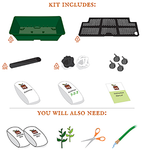 EarthBox Garden Kit Components