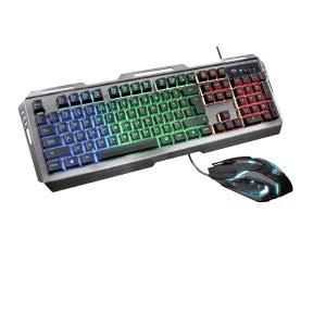 Trust Gaming GXT 845 Tural - Set de Teclado y ratón Gaming, Color Negro