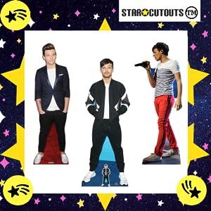 One Direction, recortes de cartón tamaño real Lous Tomlinson