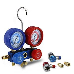 Manifold gauge set refreon recharge kit micron gauge