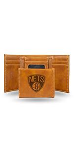 wallet,mens wallet,wallet for women,wallet for men,leather wallet,NBA,Brooklyn Nets,Nets