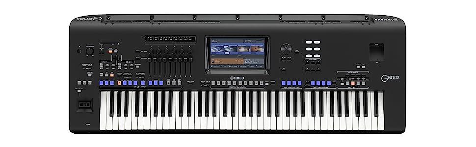 Yamaha genos 76 key digital workstation for Yamaha keyboard amazon