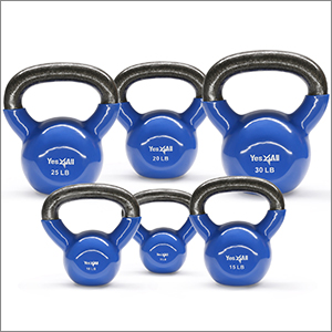 Vinyl Coated Kettlebell Weight Sets Multicolor - 5, 10, 15 lbs Yes4All Combo Special Weight Available: