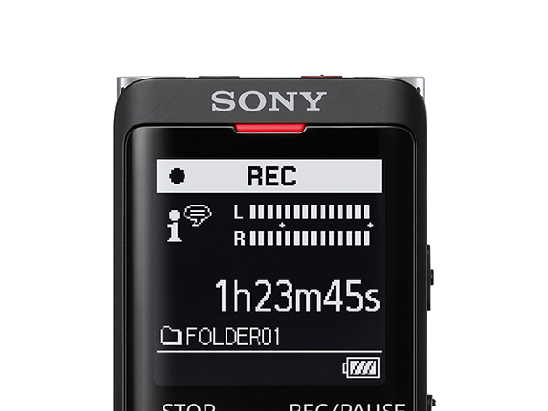 4GB built-in memory for up to 159-hours of recording time.