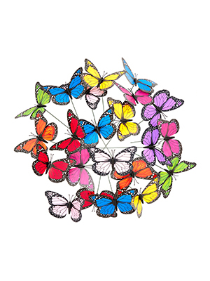 Relaxdays, 6,5 x 1-12 x 7 cm Mariposas Decorativas, 36 Unidades, PVC-Metal: Amazon.es: Jardín