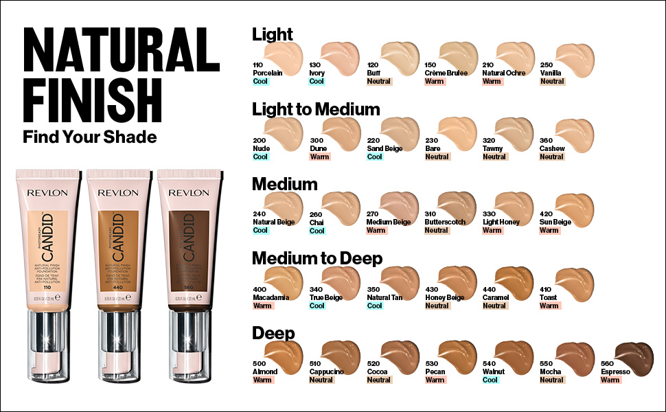 foundation natural finish candid shade finder