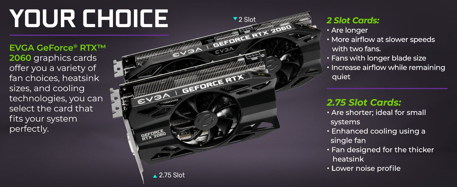 EVGA GeForce RTX 2060 XC GAMING, 6GB GDDR6, HDB Fan Graphics Card  06G-P4-2063-KR