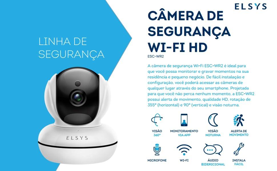 Câmera de Segurança WiFi HD ESC-WR2