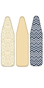 homz ironing board replacement cover and pad new thick padding simple solid fabric pattern