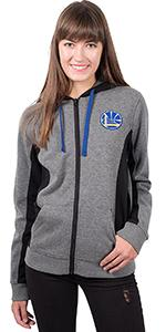 Ultra Game NBA Women's Full Zip Sherpa Jersey Hoodie with Team Logo Lightweight, breathable, fresh