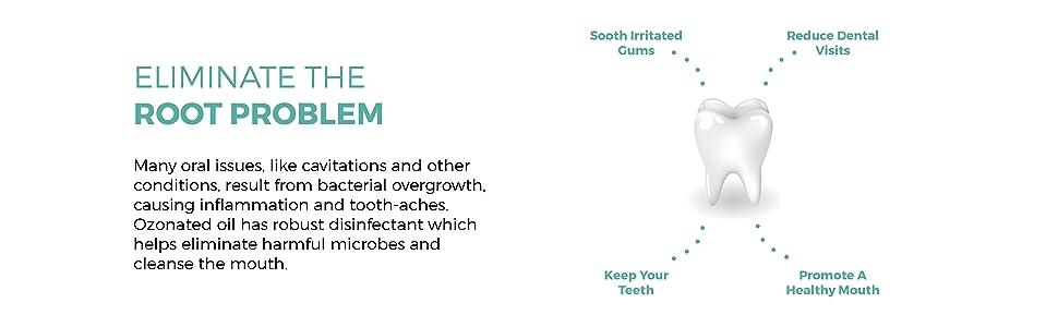 dental paste ozone toothpaste eliminate root gum problem