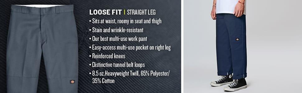 work pant, Carhartt pant, Dickies, double knee pant, loose fit pant, enforced knee pant, twill pant