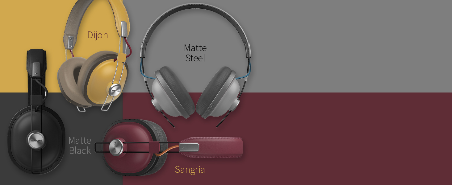 RP-HTX80B comes in four colors - Dijon, Matte Black, Matte Steel, Sangria