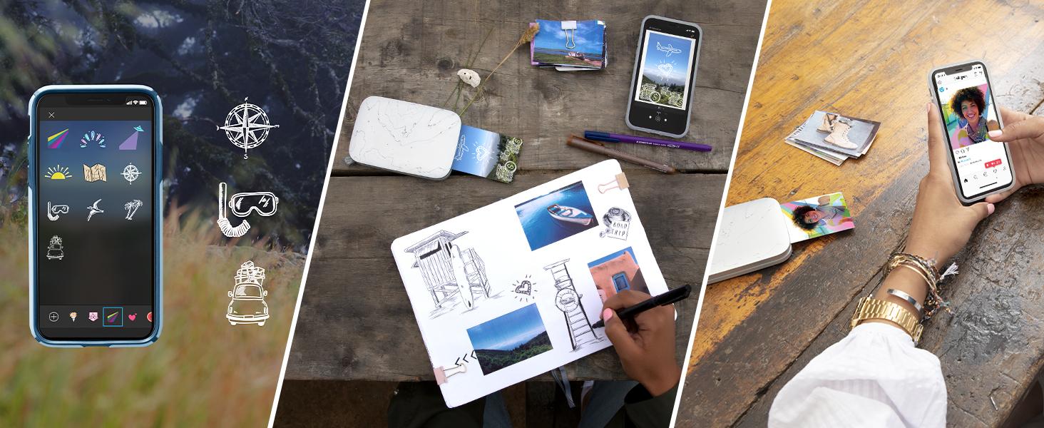 print custom sticky-backed photos from smartphone social media