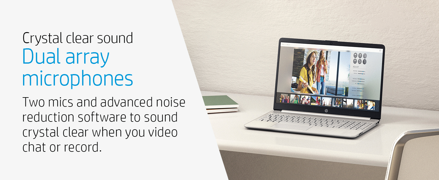 dual array microphone mic noise reduction record video chat clear sound audio voice