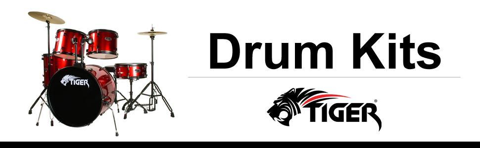 Tiger 5 Piece Junior Drum Kit Black Amazon Co Uk