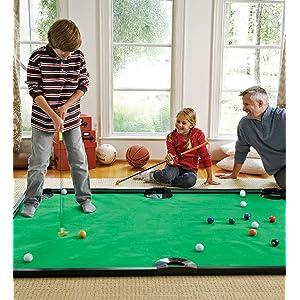 children family indoor games golf pool billiards rec room play room basement home floor sports