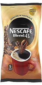 Nescafe,blend 43,coffee,australian made,soluble,coffee beans,starbucks,nespresso,moccona