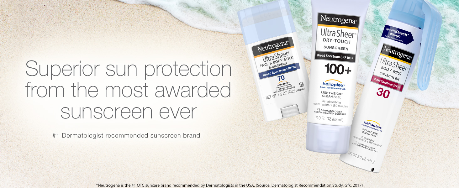 Ultra Sheer Sunscreen Trio
