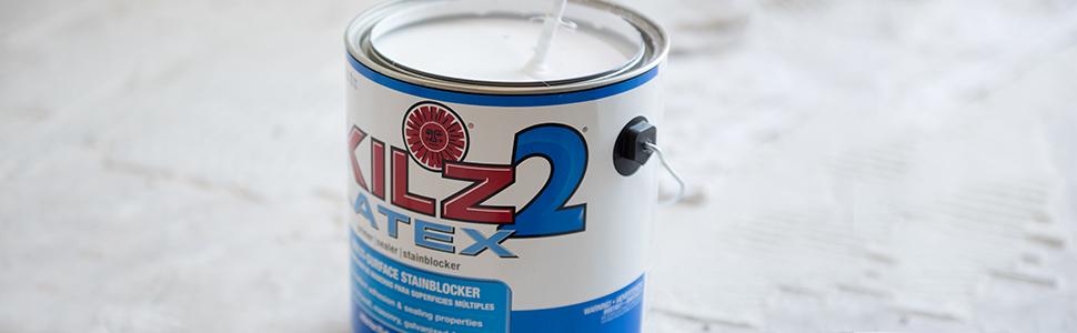 KILZ primer, KILZ paint, KILZ 2, paint prep, Zinsser, primer, stainblocking, new drywall