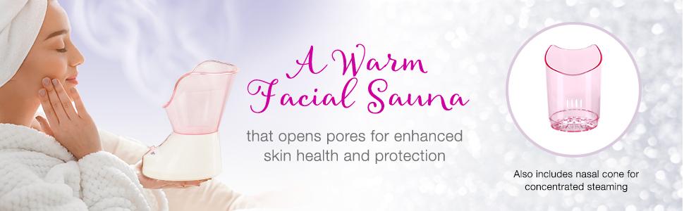 facial sauna at home spa face moisturizer true glow conair conair true glow