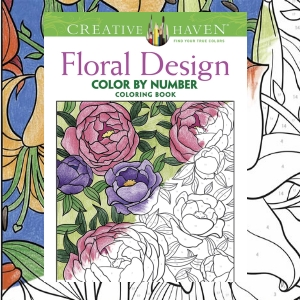floral flower adult coloring by number