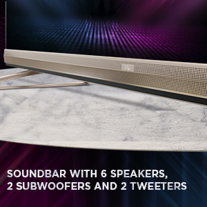Soundbar TV, 6 Speakers, Powerful Sound