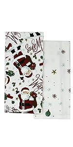 Santa Wishlist Christmas Kitchen Towels Elrene Home Fashions