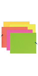 """UCreate Neon Coated Poster Board, 5 Assorted Colors, 22"""" x 28"""", 25 Sheets"""