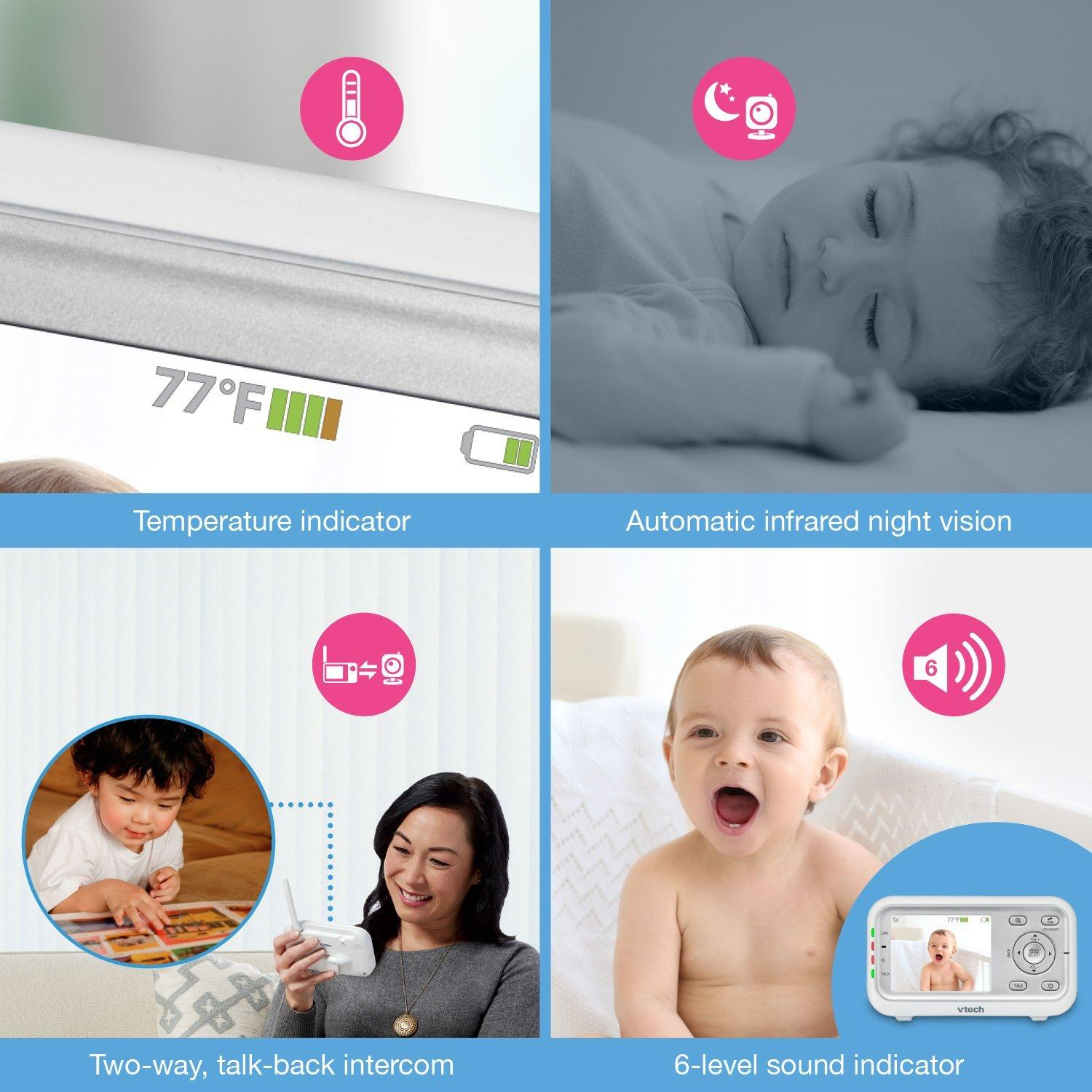 Amazon.com : VTech VM3251-2 Video Baby Monitor with