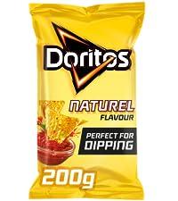 Doritos Dippas Naturel Tortilla Chips, Doos 8 stuks x 205 gr