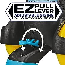 Push button expandable sizes