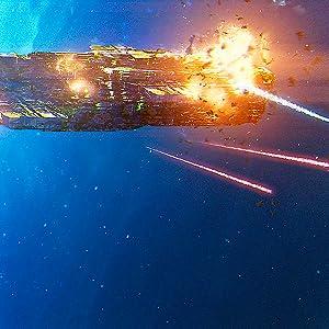 space battle, sci-fi action