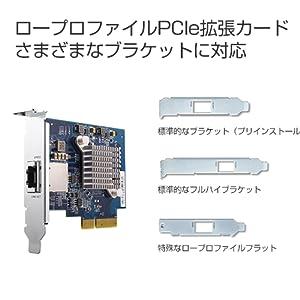 ロープロファイル PCIe 拡張 カード ブラケット 対応 プリインストール フルハイ 標準 特殊