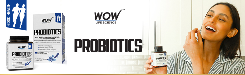 WOW LIFE SCIENCE PROBIOTICS DIETARY SUPPLEMENT