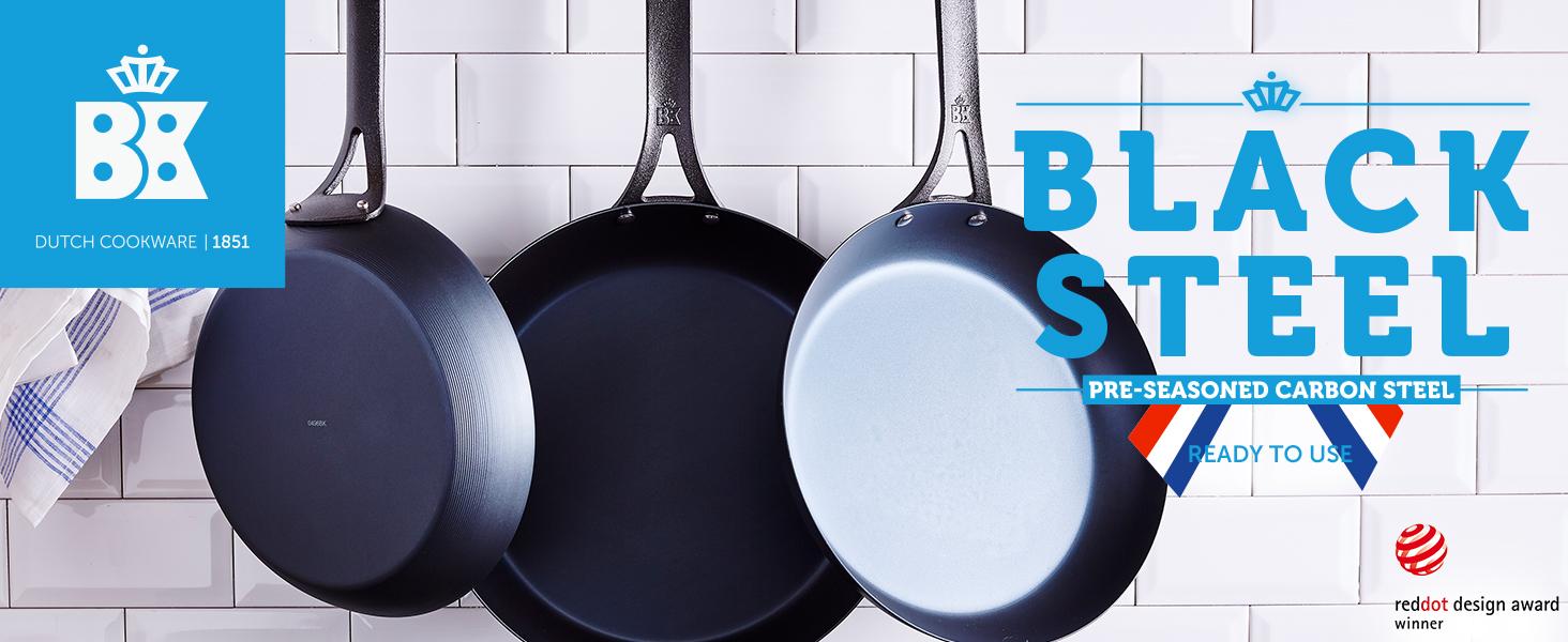 BK cookware, Black Steel, carbon steel, frying pan, cast iron, durable, versatile, searing, nonstick