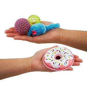 pet craft donut pack cat toys