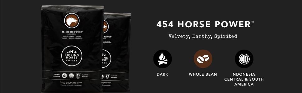 454 Horse Power 2.2 lb Whole Bean Bag Kicking Horse Coffee