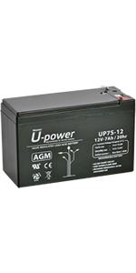 Bateria Plomo AGM 7Ah 12V