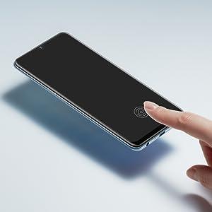 ディスプレイ指紋認証 強化ガラス 指紋認証 ロック解除
