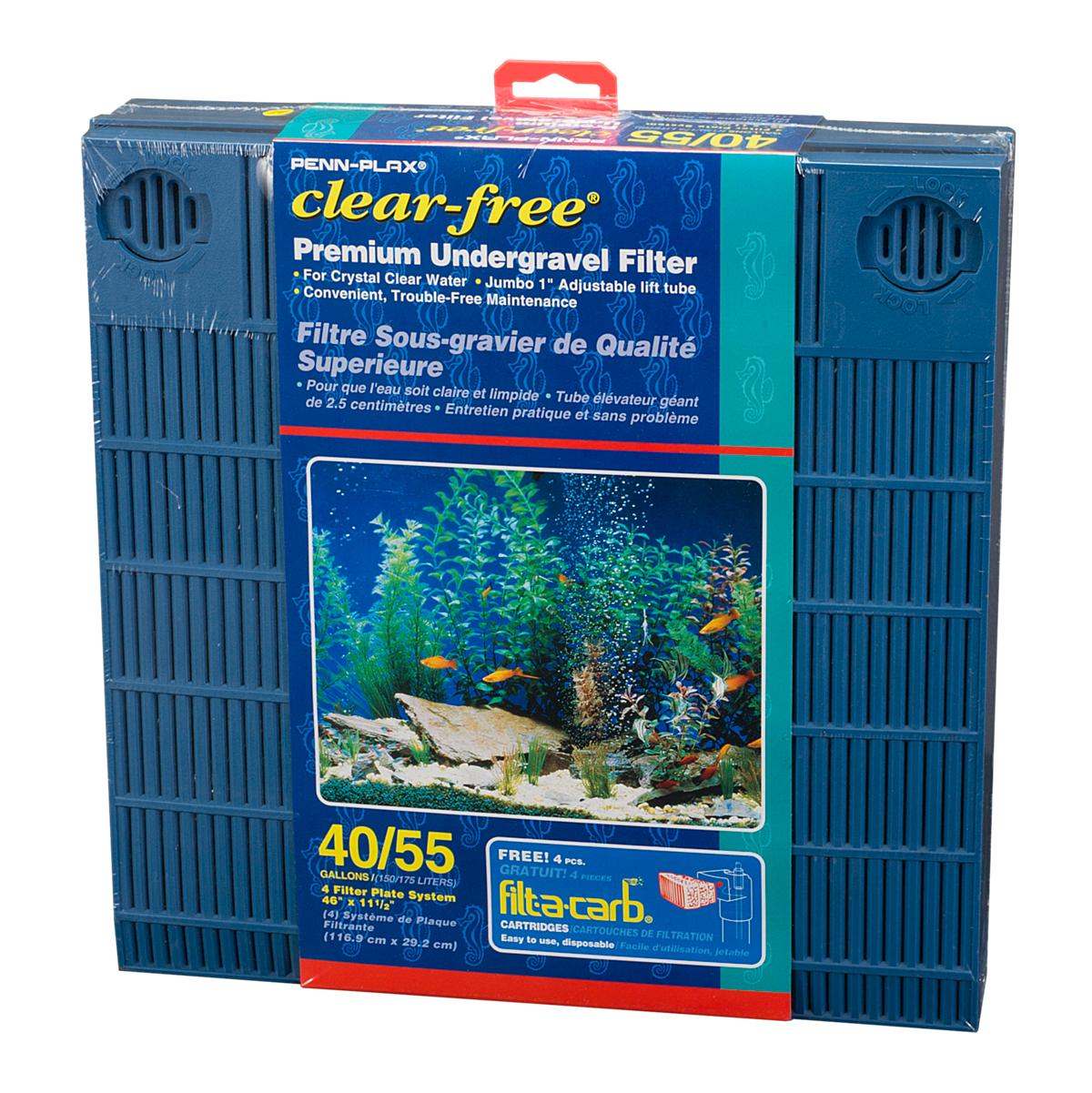 Amazon.com : Penn Plax Premium Under Gravel Filter System - for 40-55 Gallon Fish Tanks