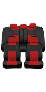 red seat covers for van