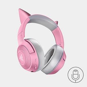 Razer Kraken Kitty Cat Quartz Pink Bluetooth Wireless Headset
