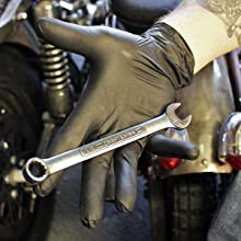 Dark Light Nitrile Black Disposable Gloves Auto Mechanic