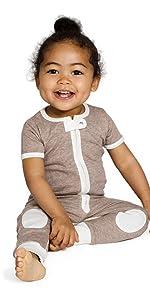 sleepsie lightweight short sleeve romper baby pajamas PJs