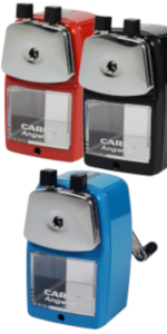 CARL Angel-5 Pencil Sharpener Blue and Red
