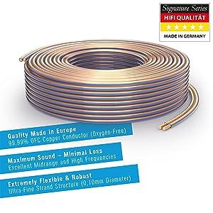Purelink Sp010 025 Lautsprecherkabel 2 X 2 5mm Hifi Elektronik