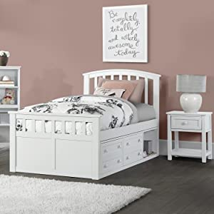 Hillsdale Furniture Charlie Captains Bed With One Storage Unit Full Gray
