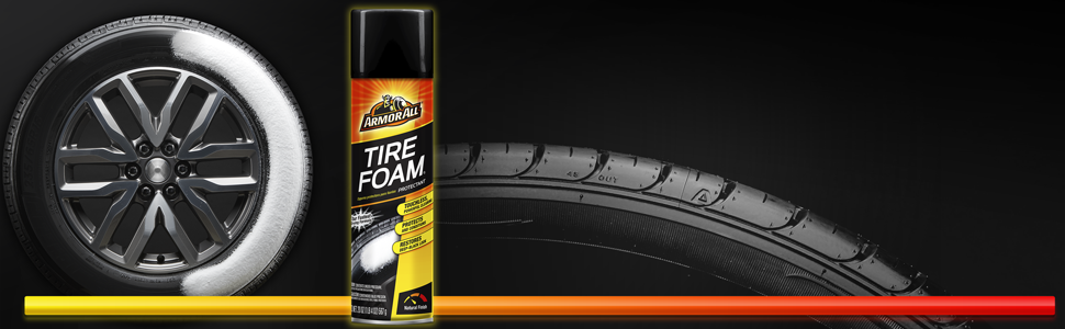 Armor All Tire Foam Protectant, Touches Powerful Cleaning, Spray on, Walk away, Medium Gloss