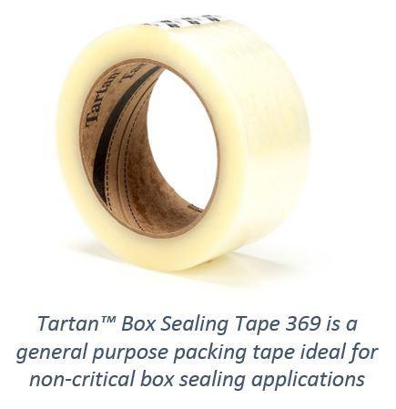 Pack of 6 Clear 48 mm x 50 m Tartan 61551 Box Sealing Tape 369